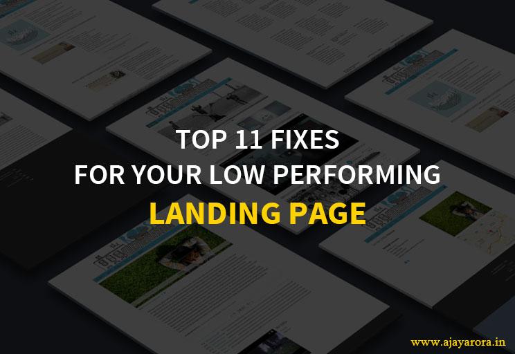 landing page