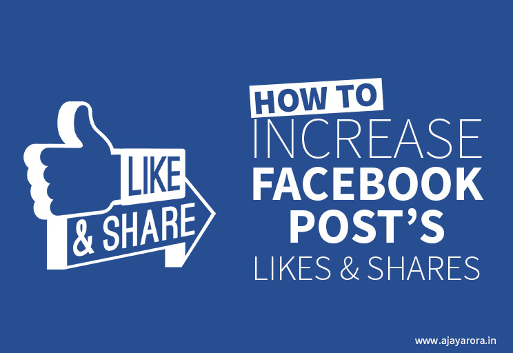 facebook post likes & shares